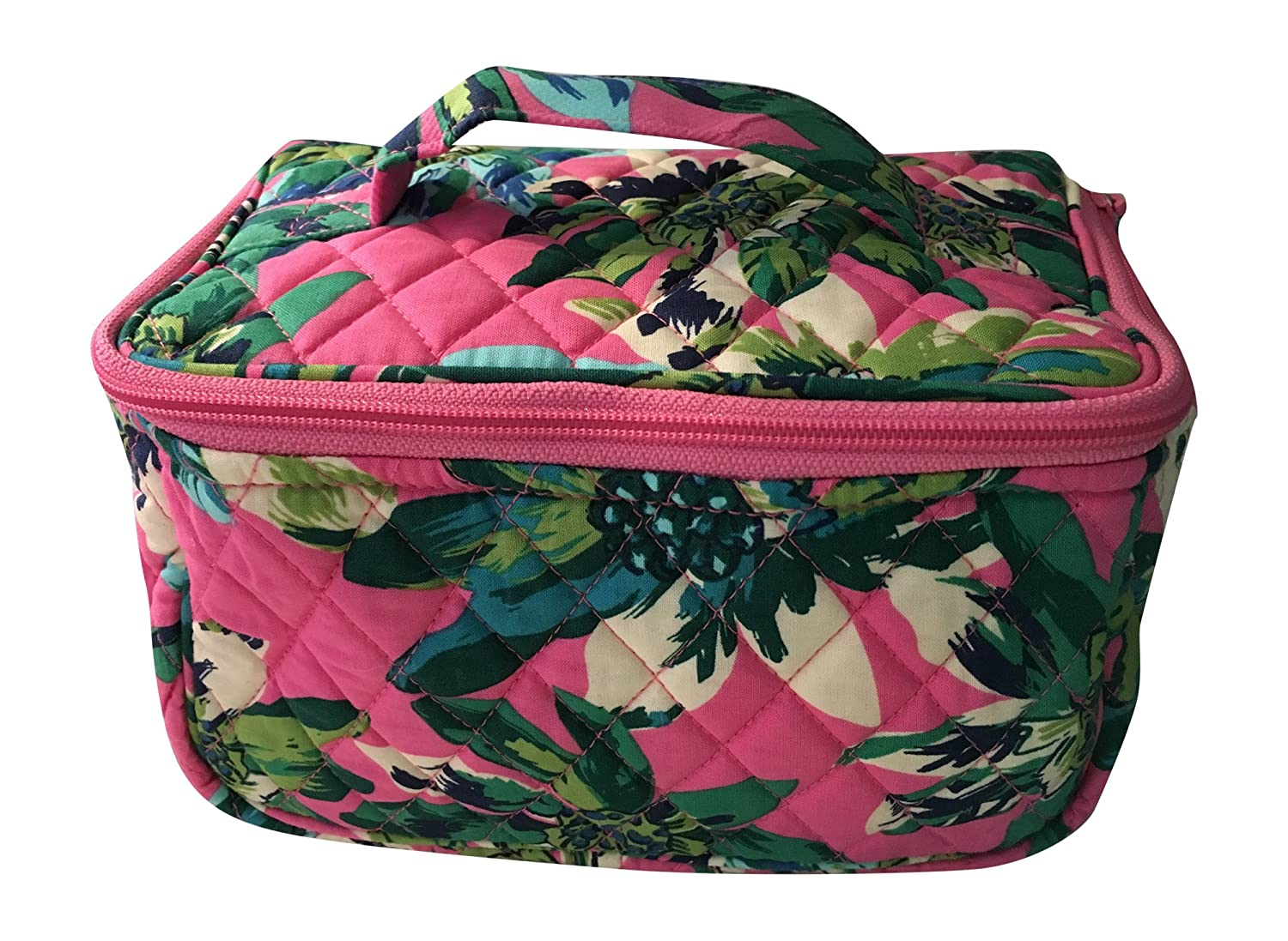 Amazon.com   Vera Bradley Travel Cosmetic Bag (Tropical Paradise with solid  blue interior)   Beauty b0670a8a44757