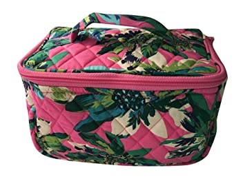 bc60859f27a7 Amazon.com   Vera Bradley Travel Cosmetic Bag (Tropical Paradise with solid  blue interior)   Beauty