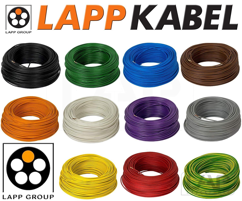 6 mm² Blau versch Längen H07V-K Aderleitung flexibel LappKabel