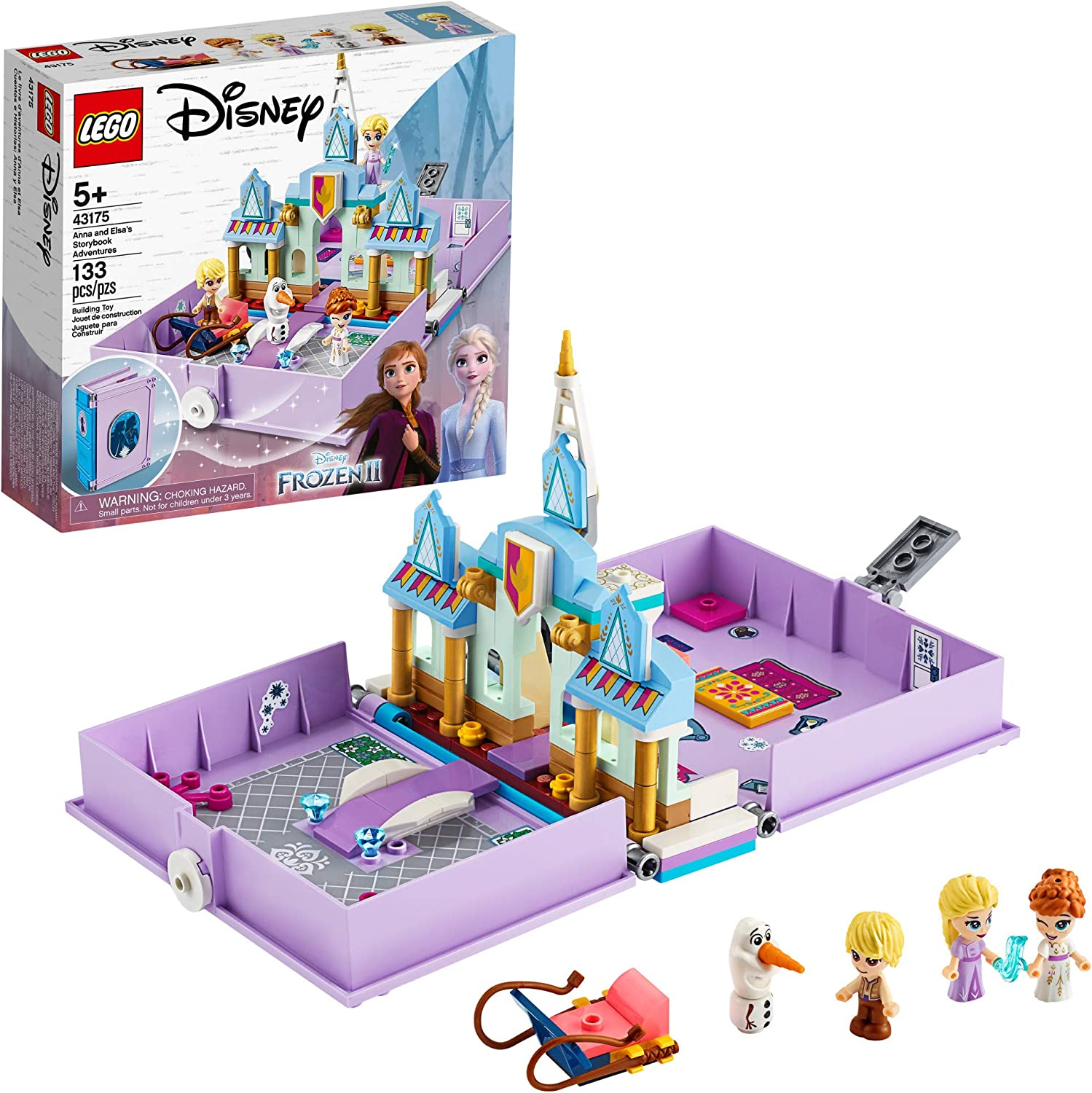 LEGO Disney Anna and Elsa's Storybook Adventures 43175 Creative Building Kit for fans of Disney's Frozen 2, New 2020 (133 Pieces)