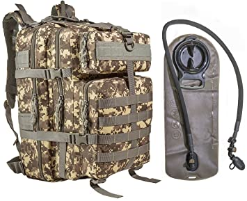 amazon co jp 45l large military tactical molleバックパックwith 2 5