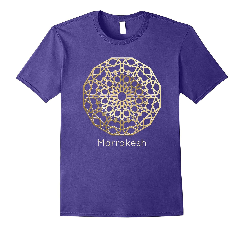 3D Mosaic Gold Marrakesh Morocco T-Shirt-FL