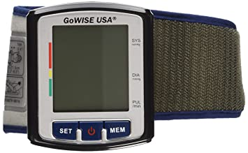 GoWISE USA GW22059 Portable Digital Automatic Blood Pressure Monitor for 2 Users x 90 Memory Recall