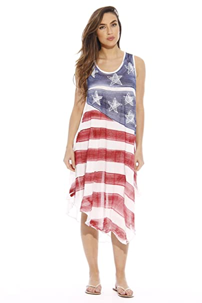 Riviera Sun Plus Size Summer Dresses Swimsuit Cover Up Flag Dresses