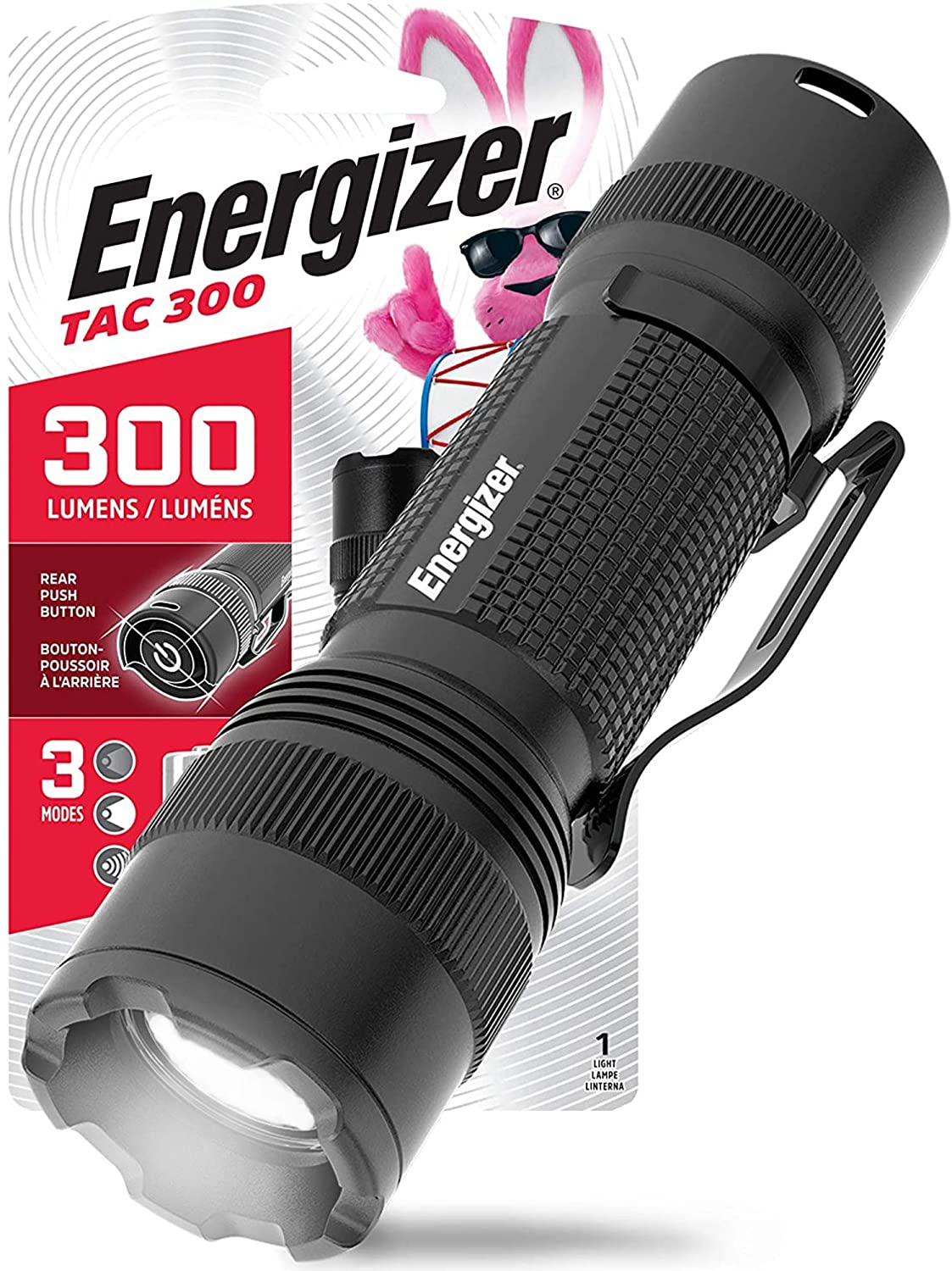 Energizer LED Tactical Flashlights, Rugged Metal Body, IPX4 Water Resistant Flash Lights, High Lumens, Built for Camping, Outdoors, Emergency, Batteries Included