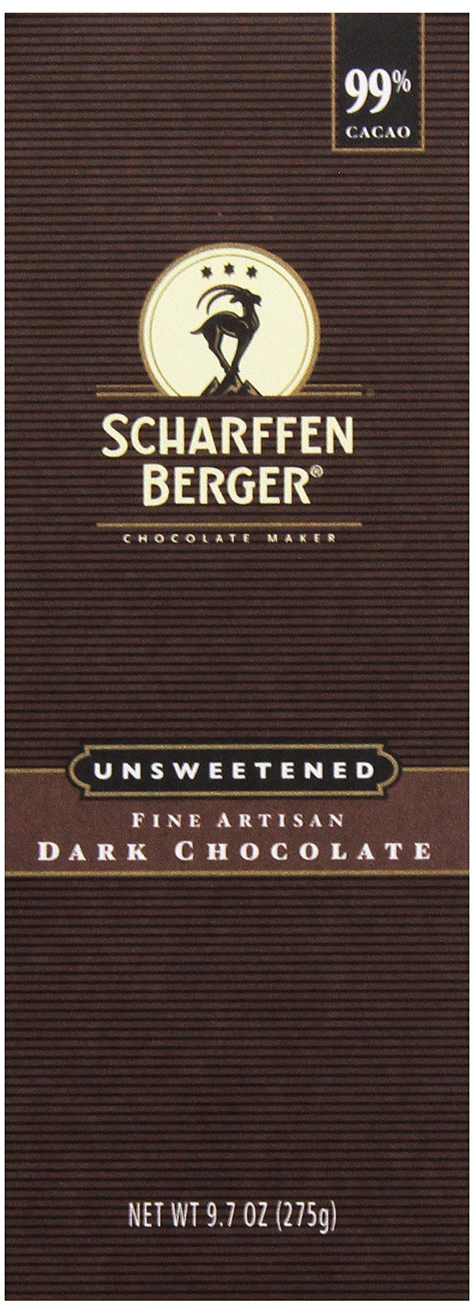 Scharffen Berger Unsweetened Dark Chocolate Baking Bar (99% Cacao), 9.7 oz