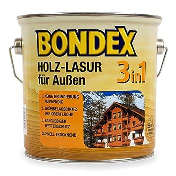 Bondex Lasure Pour Bois Extérieur Pour 3 En 1 0,75 L (châtaigne