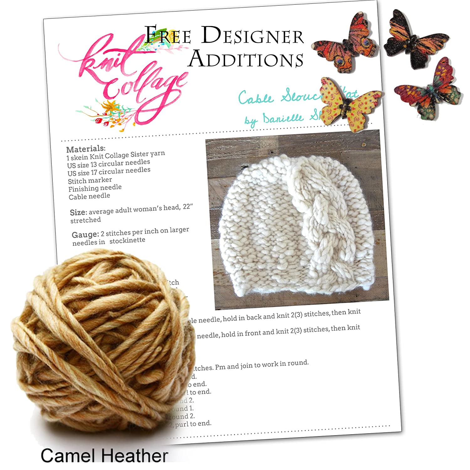 Amazon Com Cable Knit Hat Pattern Winter Knit Hat Kit Braided