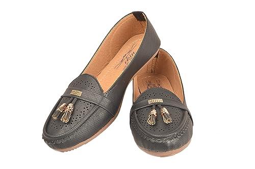 be315bebc3c1 EKIN Women s Girls Faux Leather Belly Ballerinas Shoes 1101  Buy ...