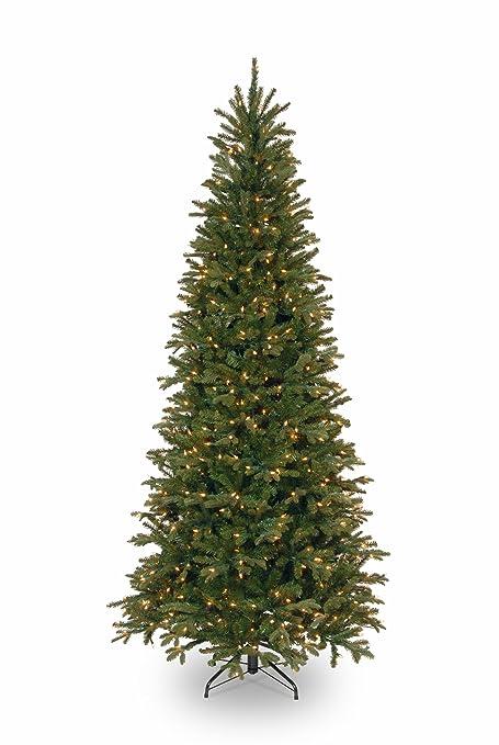 National Tree 7.5 Foot Tiffany Fir Slim Tree with 600 Clear Lights  (PETF3-304 - Amazon.com: National Tree 7.5 Foot Tiffany Fir Slim Tree With 600