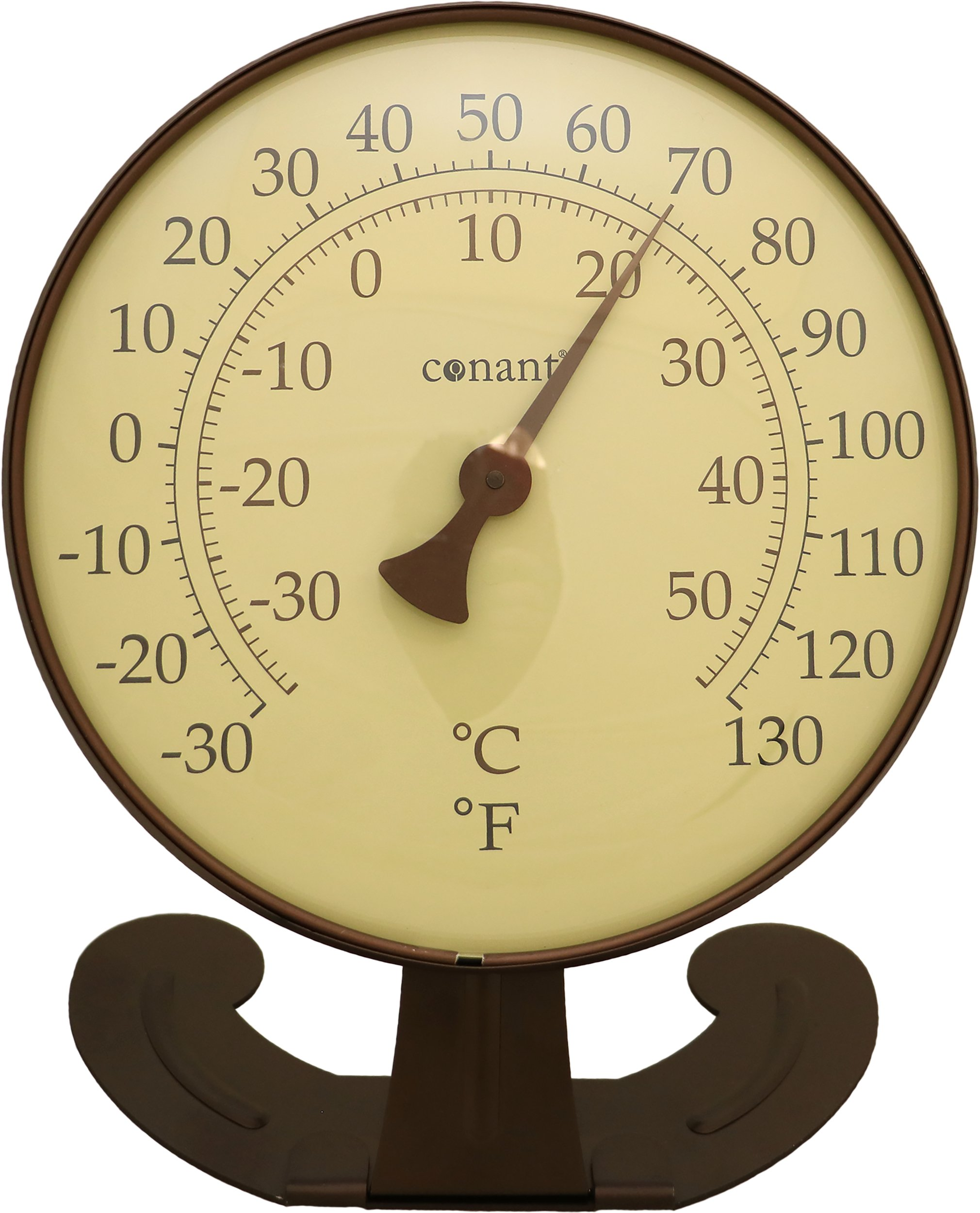Conant T10 Classic Décor Convertible Large Thermometer (Large Classic in Bronze Patina)
