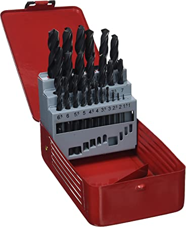 Vigor 4118005 Serie brocas HSS en caja de metal, 25 unidades): Amazon.es: Bricolaje y herramientas