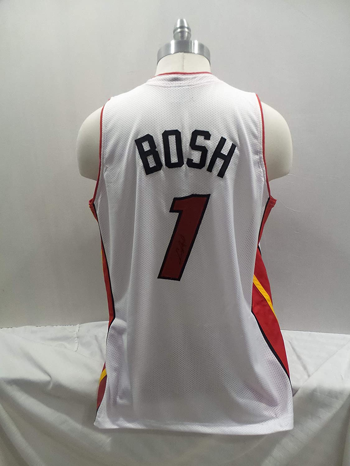 894db62e4b1 Chris Bosh Signed Miami Heat Autographed Novelty Custom Jersey at Amazon's  Sports Collectibles Store