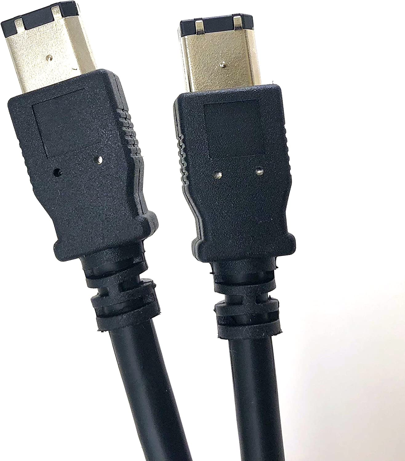 6 Feet Black High Performance IEEE 1394 Firewire Cable A type Male to B Male