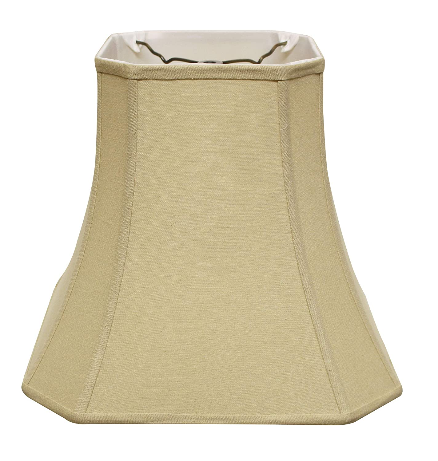Black Slant Cut Corner Square Bell Softback Lampshade with Washer Fitter , SI05030 with Bronze Lining