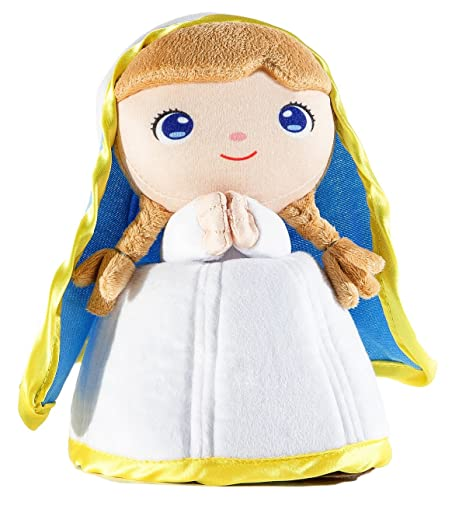 Jesusito de mi vida Plush Virgin Mary 7 languages - Peluche Virgen Ave María 7 idiomas