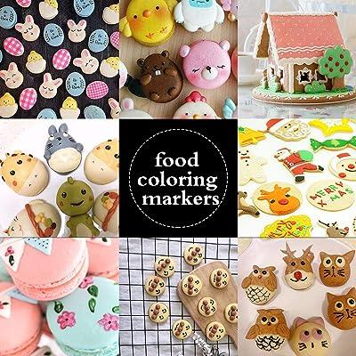 Edible Pigment Brush Food Coloring Pen For Drawing Biscuit Fondant Cake DIY Tool