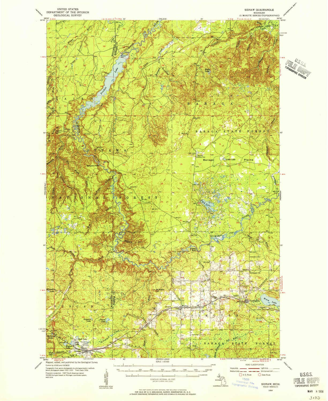 Amazon Com Yellowmaps Sidnaw Mi Topo Map 1 62500 Scale