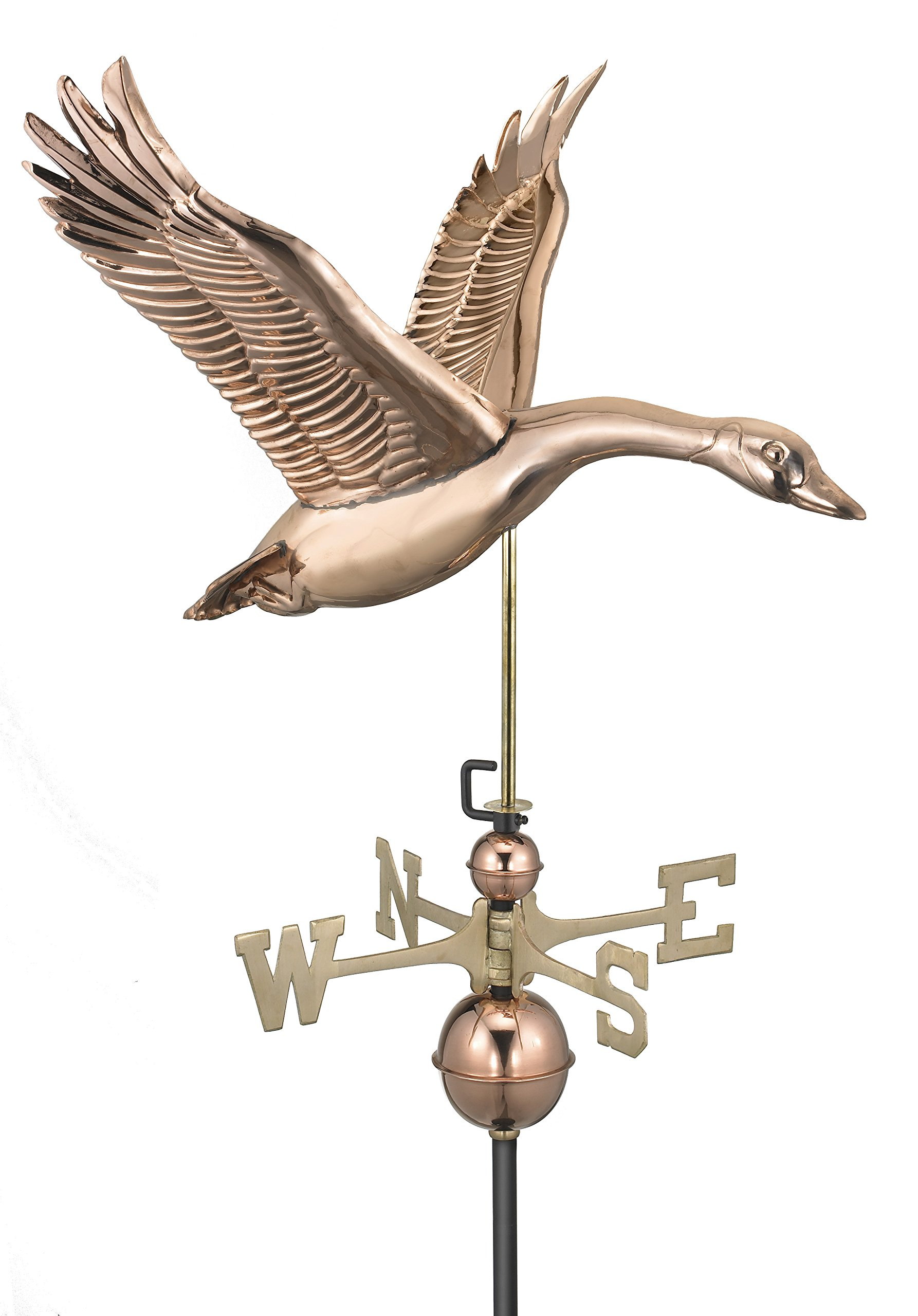 Good Directions Feathered Goose Weathervane, Pure Copper