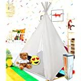 Teepee Tent for Kids | Tepee Play Tent Indoor and Outdoor Portable | Play Tent for Boy and Girls | Childrens Pop Up Tee…