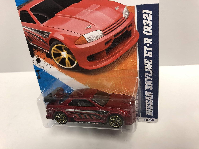 BRAND NEW 2011 HOT WHEELS #115 NIGHTBURNERZ 5//10 NISSAN SKYLINE GT-R  R32 RED