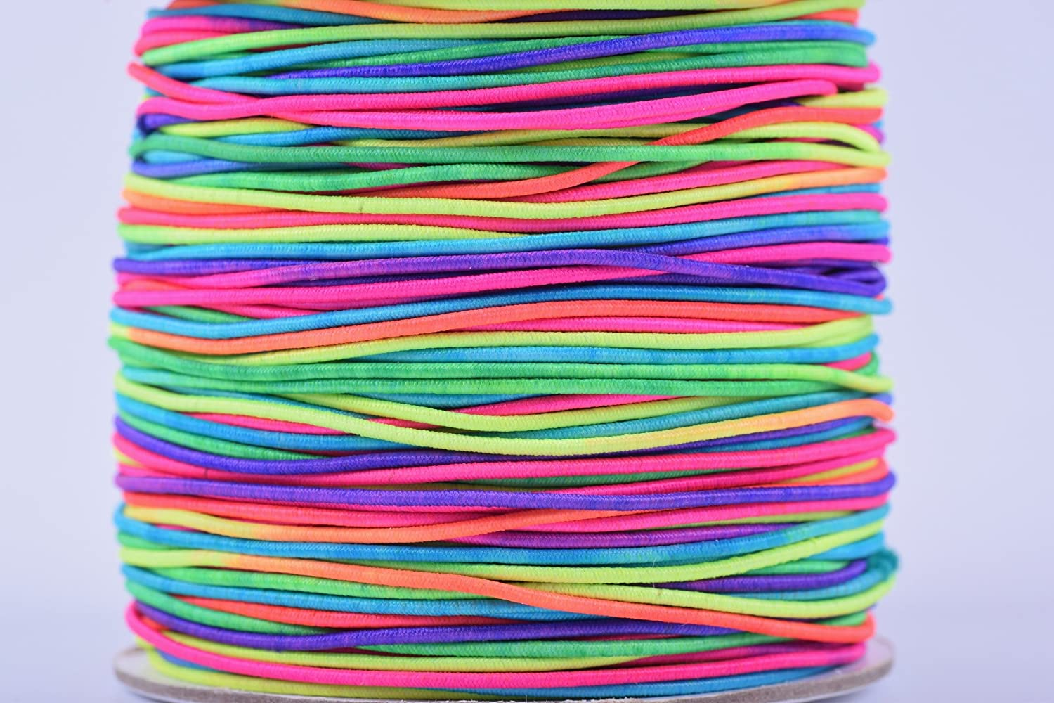 KONMAY 1 Roll 1.0mm 100 Yards Elastic Cord/shock cord (1.0mm, Rainbow)