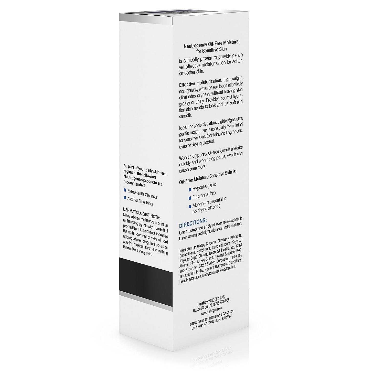 amazon com neutrogena oil free moisture sensitive skin 4 fl oz