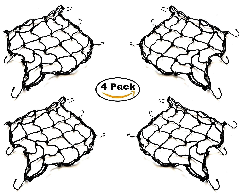 Melchioni 4x Filet élastique araignée Moto Universel avec Crochets 40x 40cm Super resistente-380049002