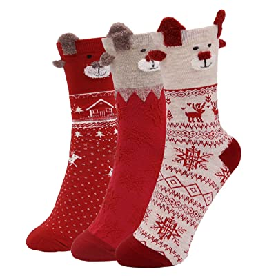 5 Pack Animal Socks for Women, Canvalite Causal Cute Rabbit Sheep Print Pattern Socks