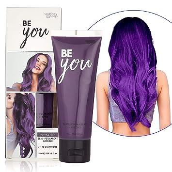 Semi-Permanent Purple Hair Dye - Vibrant 2.36 Oz. Tubes Temporary Hair  Color - Ammonia and Peroxide Free -Vegan and 100% Cruelty-Free Toner -  Lasts ...