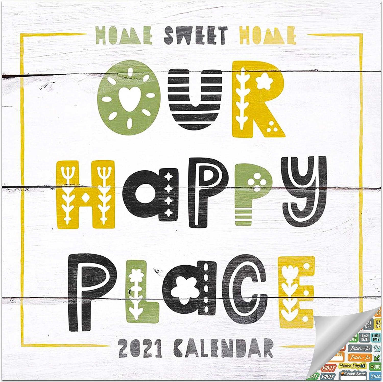 Home Sweet Home Calendar 2021 Bundle - Deluxe 2021 Americana Wall Calendar with Over 100 Calendar Stickers