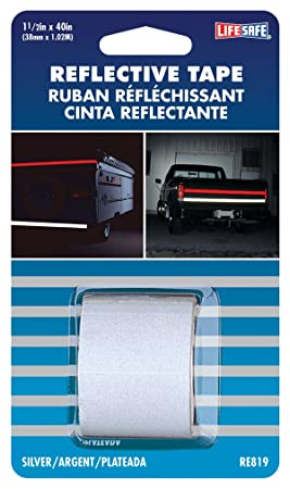 RE819 de 1, 5 pulgadas por cinta reflectante de 40 pulgadas, de plata - - Amazon.com