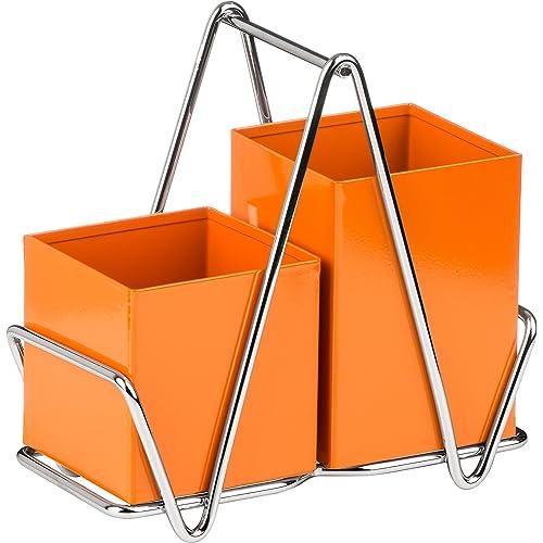Premier Housewares 2 Compartment Cutlery Caddy - Orange