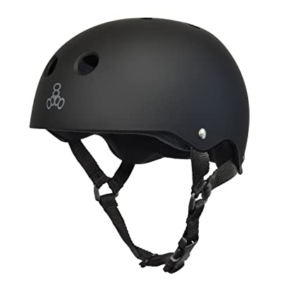 Triple Eight Sweatsaver Liner Skateboarding Helmet, All Black Rubber, Small : Sports & Outdoors