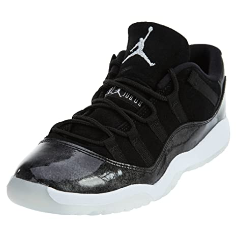 c226e007a4b Jordan Little Kids Air Jordan 11 Retro Low PS Pre-School black white-metallic  silver Size 2.0 US  Amazon.in  Baby