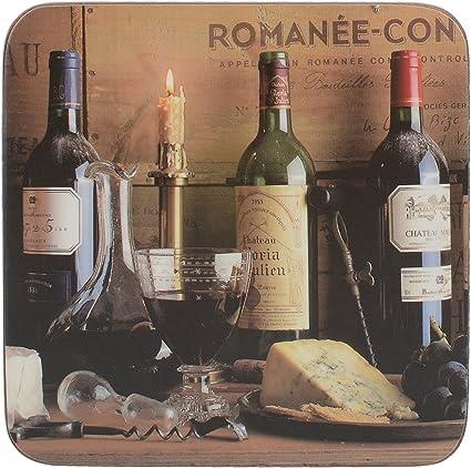 Li/ège Large Placemats Marron CREATIVE TOPS Wine Premium Lot de 6 Sets de Table avec Dos en li/ège