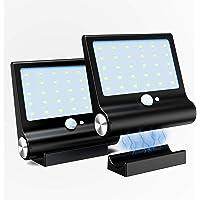 Luz Solar Exterior,M-T-K [Versión Desmontable Magnética] Foco Solar Potente con Sensor de Movimiento y 3 Modos de…