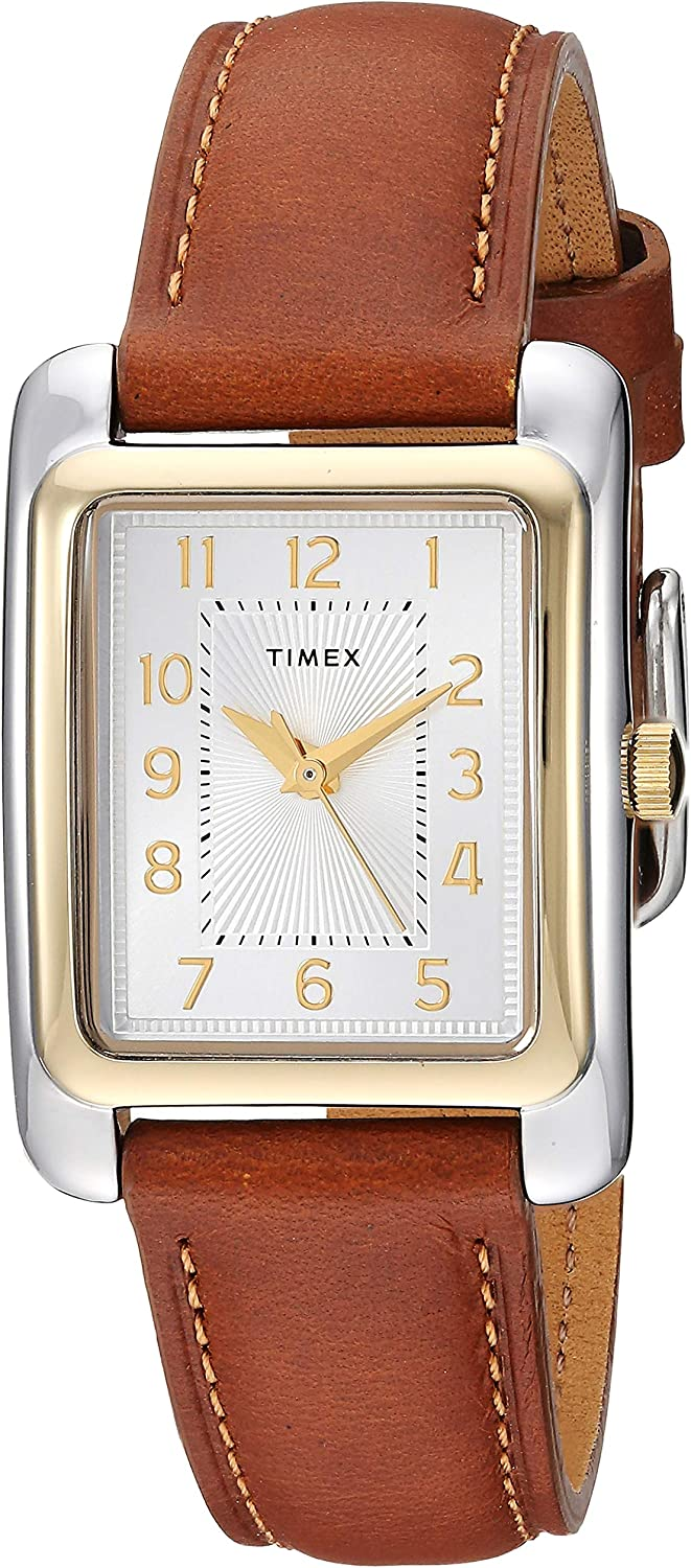 Timex Women s TW2R89600 Meriden Brown Two-Tone Leather Strap Watch