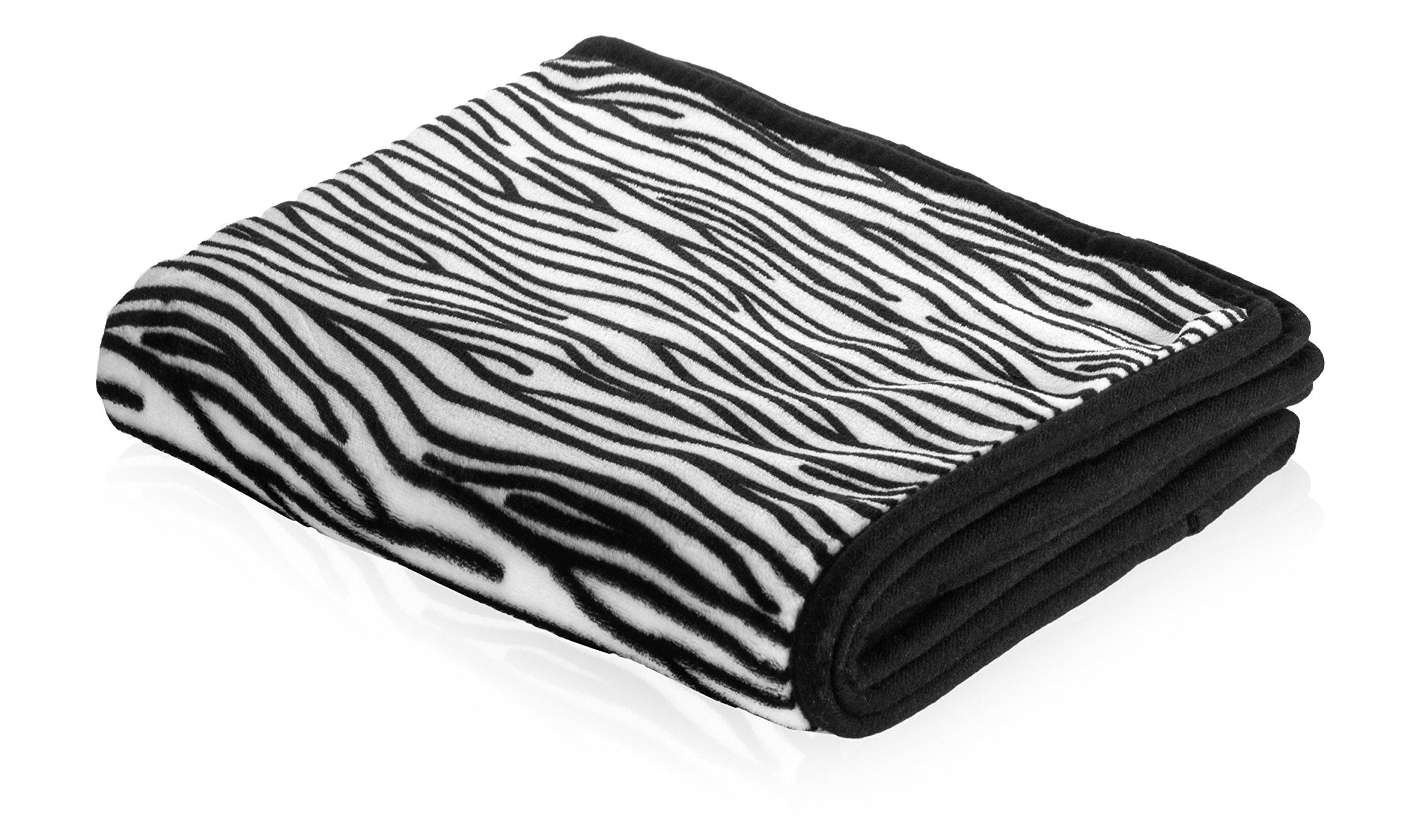 Smart Pet Love Snuggle Blanket for Pets, 48'' x 30'', Zebra
