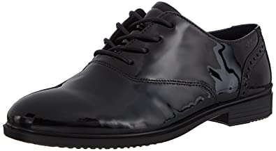 ecco black lace up womens shoes