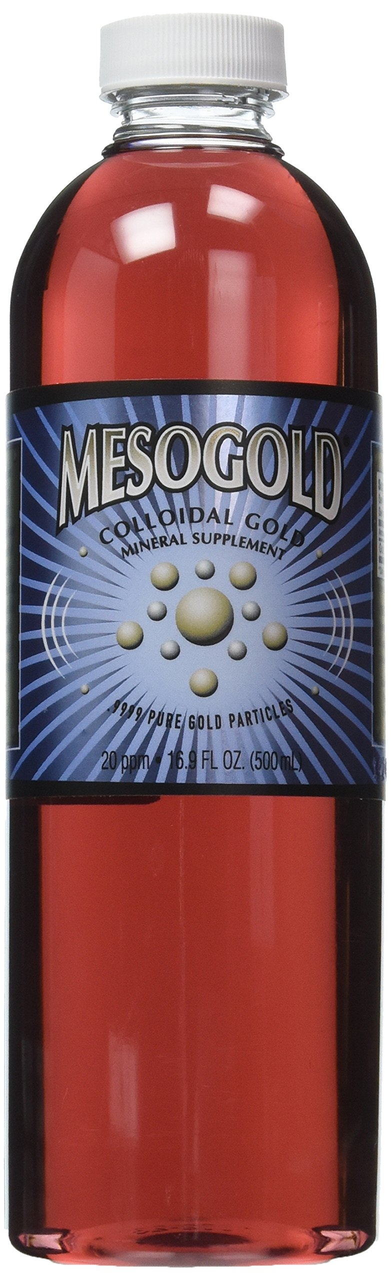 MesoGold ® 20 ppm Colloidal Gold 500 mL/16.9 Oz
