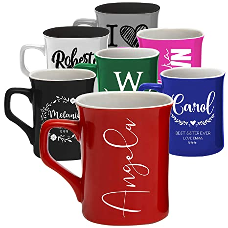 Personalized Coffee Mugs 11 Oz 16 Oz 8 Design 2 Size 7 Color Personalized Gifts Ceramic Mug Gift For Housewarming Hand Wash Only