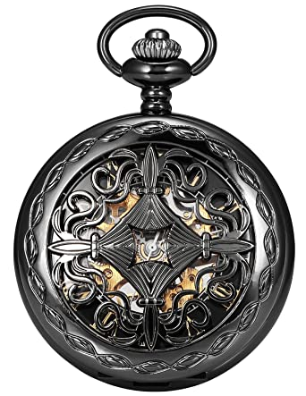 amazon com ampm24 steampunk black copper case skeleton mechanical