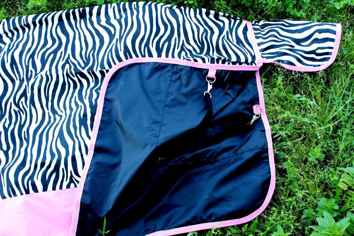 1000D Turnout Waterproof Horse SHEET Light Winter Blanket Zebra 223G