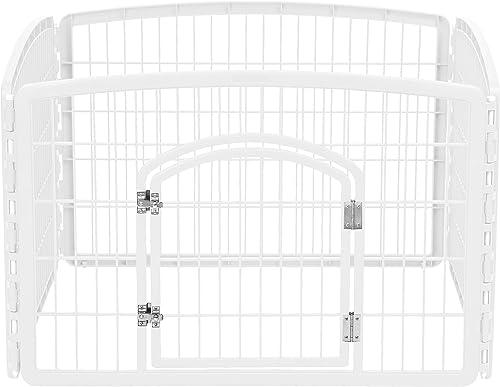 IRIS 24 Exercise 4-Panel Pet Playpen with Door