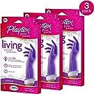 Playtex Living Reuseable Rubber Cleaning Gloves (Medium, Pack - 3)