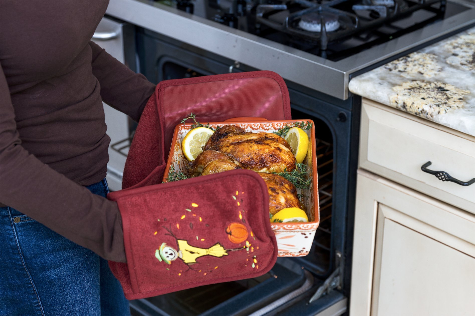 Campanelli's Cooking Buddy - Professional Grade All-In-One Pot Holder, Hand Towel, Lid Grip, Tool Caddy, and Trivet. Heat Resistant up to 500ºF! As Seen On QVC. (Limited Edition: Harvest Brown) by Campanelli Products (Image #3)