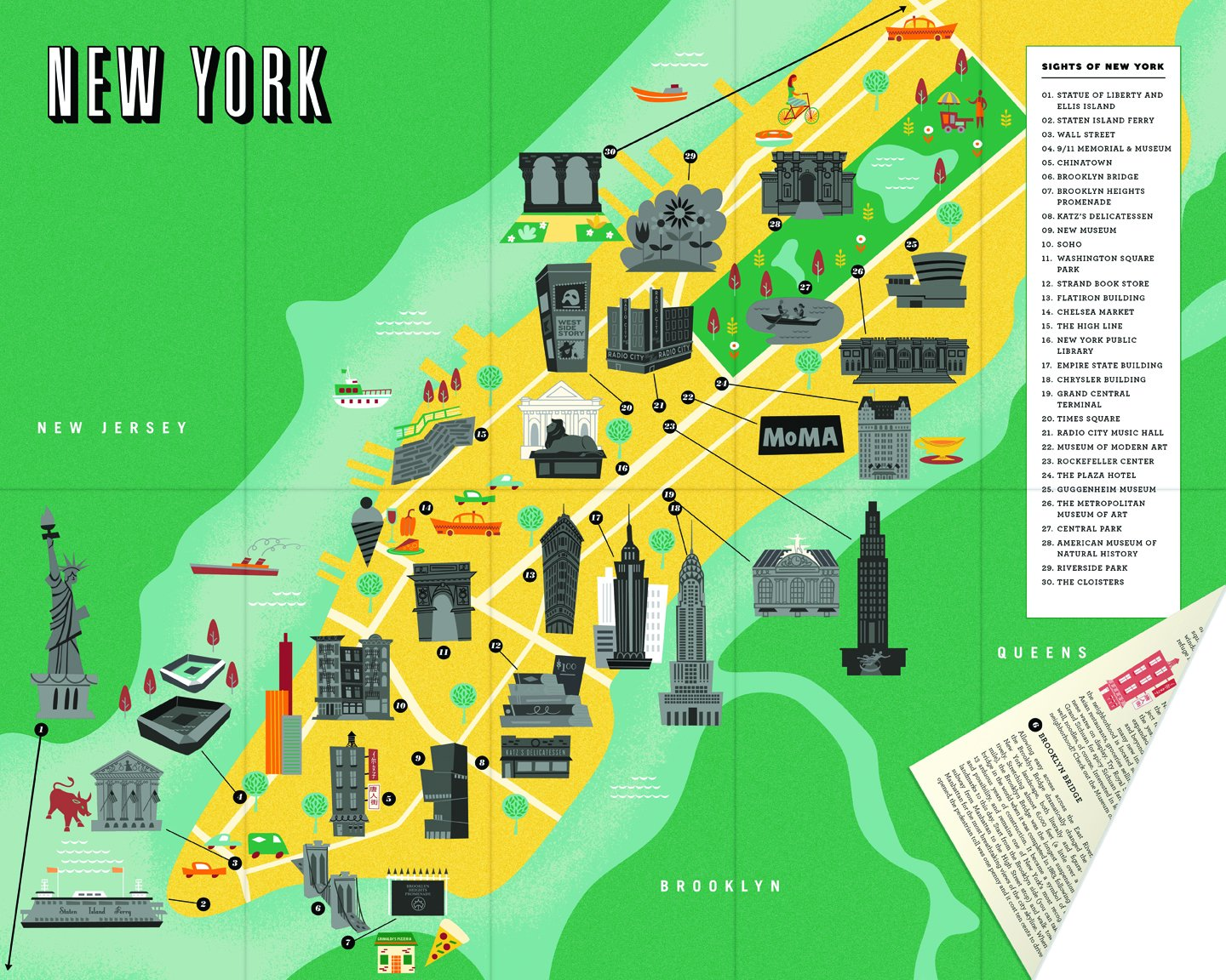 Picture Of New York Map.City Scratch Off Map New York A Sight Seeing Scavenger Hunt