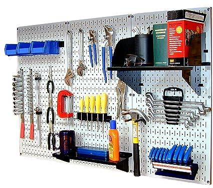 Wall Control 30 WRK 400WB Standard Workbench Metal Pegboard Tool Organizer