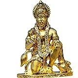 Divine Gifts Hanuman Idol Statue, Idol for car Dashboard (Golden)